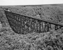 Bridge  Spanning Kinzua Creek Valley  Miles Northeast of Kushequa Mount Jewett McKean County Pennsylvania