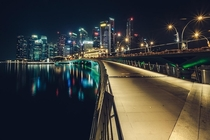 Bridge to Financial District in Singapore