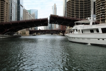 Bridges in Downtown Chicago IL