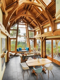 Bright  Airy Cathedral Cabin overlooking Oxbow Ridge South Pender Island BC