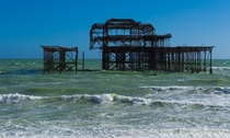 Brighton west pier remains England  by happyapple
