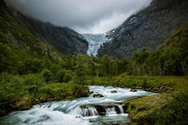 Briksdal Glacier in Norway - Mostly melted away now