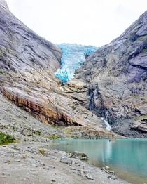 Briksdalsbreen Glacier Jostedalsbreen National Park One of the most beautiful places Ive ever been