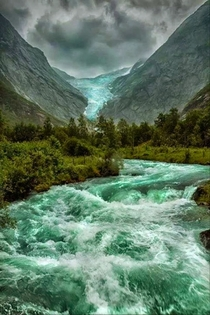Briksdalsbreen Glacier Norway Unknown photographer