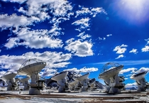 Brilliant blue over the Atacama Large Millimetersubmillimeter Array ALMA