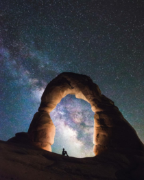 Brilliant glow of the Milky Way Arches National Park Utah Photo by Tomas Havel