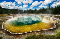 Brilliant Thermal Pool in Yellowstone  by David Soldano
