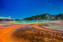 Brilliantly Colorful Grand Prismatic Spring Yellowstone National Park