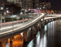Brisbane freeway exit Australia