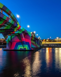 Brisbane William Jolly Bridge Multichromatic synaesthesia  by Emma Coulters artwork