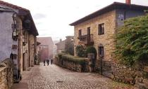 Brisk morning walk in Santillana del Mar Spain
