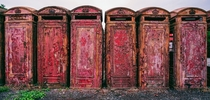 British Telephone Box Graveyard