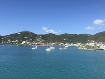 British Virgin Islands Tortola this morning looks very peaceful