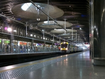 Britomart train station in Auckland New Zealand April