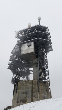 Broadcast tower at  ft over sea level - Titlis-Engelberg Switzerland