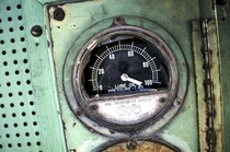 Broken Gauge inside an Abandoned Locomotive