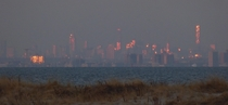 BrooklynManhattan from the tippy end of Sandy Hook NJ december