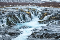 Bruarfoss waterfall in Iceland a lesser known beauty