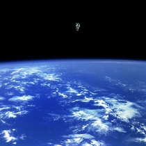Bruce McCandless on the first ever untethered spacewalk February