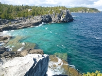 Bruce Peninsula National Park Ontario on the shores of Lake Huron