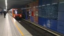 Brussels subway at HeyselHeizel station