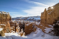 Bryce Canyon in the winter is