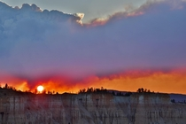 Bryce Canyon National Park the day after a nearby forest fire started Brian Head Fire -  Led to some surreal images