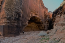 Buckskin Gulch near Kanab Utah with a friend for scale