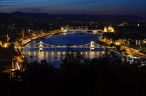 Budapest and the Blue Danube at night