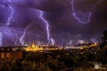 Budapest during storm