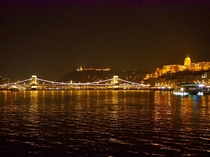 Budapest from the Danube River Buda castle on the right Liberty Monument and the Chain Bridge centered from my recent holiday