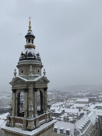 Budapest from the top of St Stephens Basilica