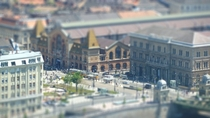 Budapest Great Market Hall Tilt-shift