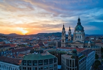 Budapest Hungary at sunset today
