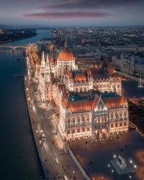 Budapest shortly after sunset