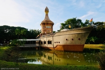 Buddhist Temple in Shape of Boat - Sisaket Thailand
