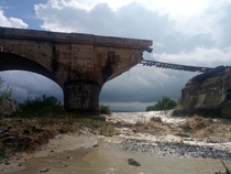 Budila Bridge Brasov Romania - destroyed by yesterdays floods  in  years it was never repaired
