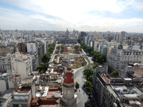 Buenos Aires Argentina seen from the top of the Palacio Barolo