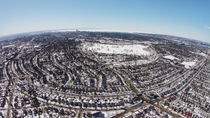 Buffalo NY and part of Fort Erie ON in the Snow