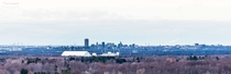 Buffalo NY from Chestnut Ridge with the City of Niagara Falls in the background