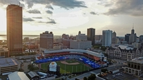 Buffalo NY with their baseball stadium updated and set to host the Toronto Blue Jays this season