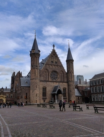 Building complex that houses most Dutch Political parties Het Binnenhof in The Hague