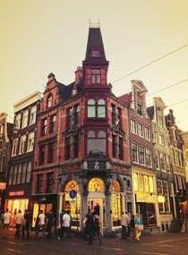 Building containing a smart shop on the corner of Keizersgracht and Leidsestraat in Amsterdam Netherlands