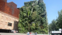 Building made of plants near Atocha train station in Madrid  x