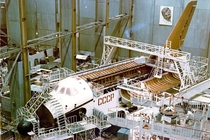 Building of the Soviet Buran space-shuttle circa  Kazakhstan at the Baikonur complex