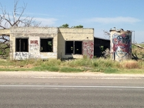 Building on the highway between Roswell amp Tatum New Mexico I couldnt really explore it BC of a broken leg