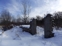 Building remains near Barrie Ontario Canada