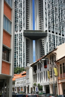 Building with a sexy slit Singapore