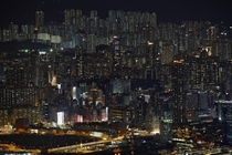 Buildings on a hillside in Hong Kong Bobby Yip