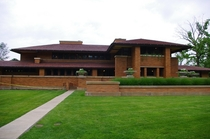 Built between  and  the Darwin Martin House complex Buffalo New York was designed by Frank Lloyd Wright and is from his Prairie School era
